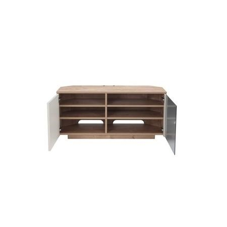 "UK-CF New Tokyo Oak/Cream TV Cabinet for up to 55"" TVs"
