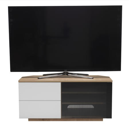"UK-CF New Tokyo Oak/White TV Cabinet for up to 55"" TVs"