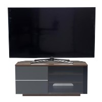 "UK-CF New Tokyo TV Cabinet for up to 65"" TVs - Walnut/Grey"