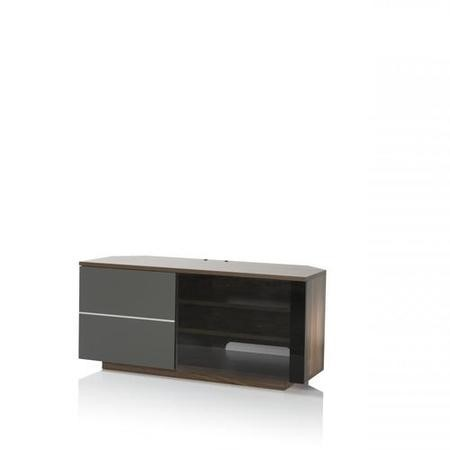 "UK-CF New Tokyo Walnut/Grey TV Cabinet for up to 65"" TVs"