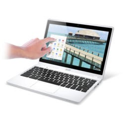 Refurbished Acer Aspire C720P 2GB 16GB SSD 11.6 inch Touchscreen Chromebook Laptop in White