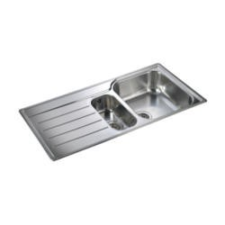 Rangemaster OL9852L Oakland 985x508 1.5 Bowl LHD Stainless Steel Sink