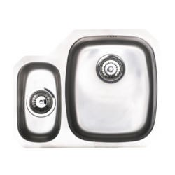 Astracast OPS3XXHOMESKR1 Opal S3' Undermount 1.5 Bowl Polished Stainless Steel Sink with Right Hand Small Bowl