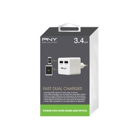 PNY Fast Dual Charger UK 17W