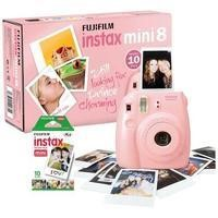 Fuji Instax Mini 8 Pink Instant Camera inc 10 Shots