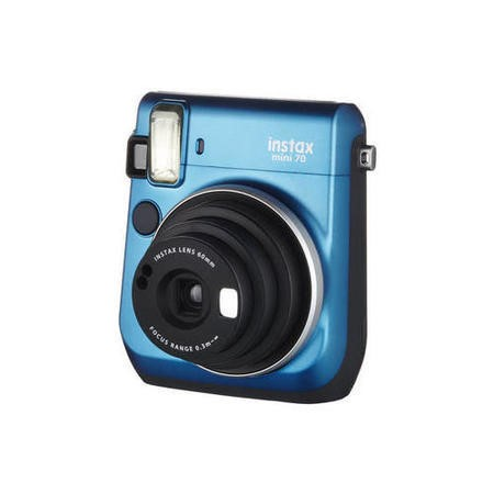 Fuji Instax Mini 70 Instant Camera - Blue inc 10 Shots