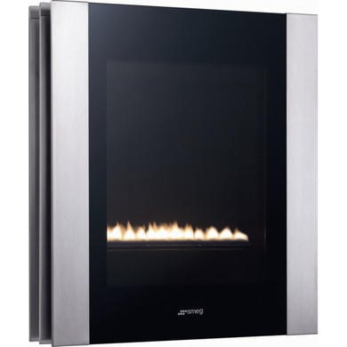 Smeg P23LIN Linea Portrait Gas Wall Fire - Stainless Steel