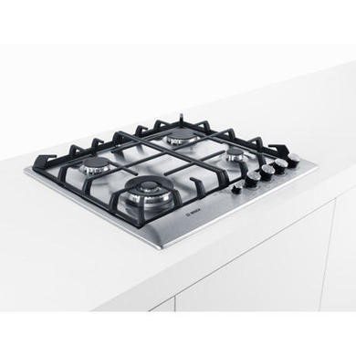 Bosch PCH615M90E Exxcel 60cm Front Control Gas Hob - Brushed Steel