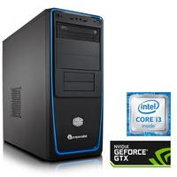 PC Specialist Core i3-6100 3.70GHz 8GB 1TB GeForce GTX 750Ti 2GB DVD-RW Windows 10 Gaming Desktop
