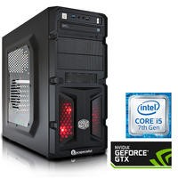 PC Specialist Core i5-7400 3GHz 8GB 1TB NVIDIA 4GB GTX 1050Ti Windows 10 Gaming Desktop - PCS-D1165527