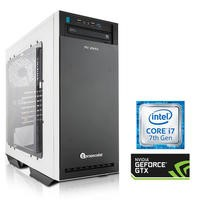 PC Specialist Core i7-7700 16GB 3TB + 240GB SSD GeForce GTX 1080 DVD-RW Windows 10 Gaming Desktop