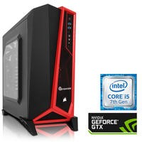 PC Specialist Core i5-7600K 16GB 3TB 120GB SSD NVIDIA GTX 1070 Windows 10 Gaming Desktop