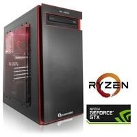 PC Specialist Osiris Striker AMD Ryzen 1600 8GB 1TB + 120GB SSD GeForce GTX 1060 DVD-RW Windows 10 Desktop