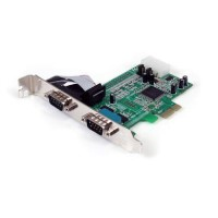 StarTech 2 Port Native PCI Express RS232 Serial Adapter Card with 16550 UART