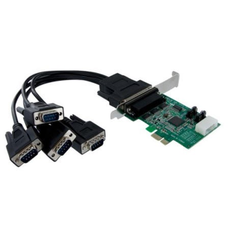 StarTech 4 Port Native PCI Express RS232 Serial Adapter Card with 16950 UART