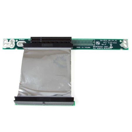 StarTech.com PCI Express Riser Card x8 Left Slot Adapter 1U with Flexible Cable