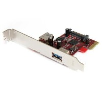 StarTech.com 2 port PCI Express SuperSpeed USB 3.0 Card with UASP Support - 1 Internal 1 External