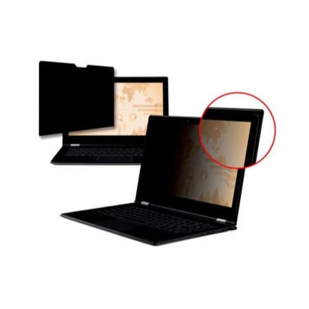 "3M Black Frameless Privacy Filter for Edge-to-Edge 15.6"" Widescreen Laptop"