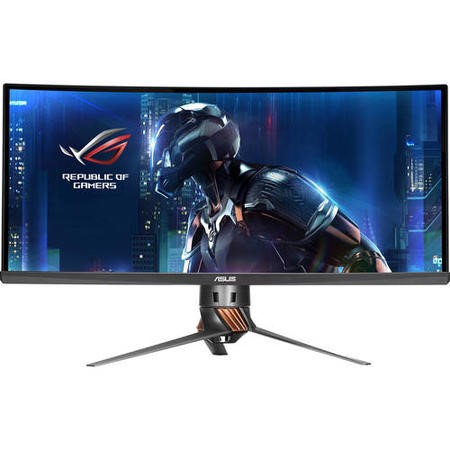 "PG348Q Asus PG348Q ROG Swift 34"" IPS UWQHD 100Hz G-sync Curved Gaming Monitor"