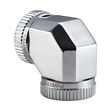 Phanteks 16mm Hard TubeAdapter 90 - Chrome