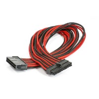 Phanteks 24-Pin ATX Cable Extension 50cm - Sleeved Black & Red