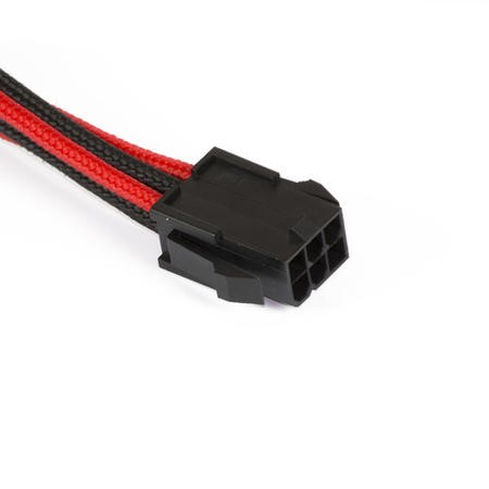 Phanteks 6-Pin PCIe Cable Extension 50cm - Sleeved Black & Red