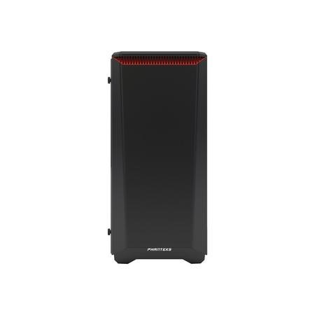 Phanteks Eclipse P400S Glass Midi Tower Case - Noise Dampened Black/Red