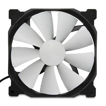 Phanteks PH F140SP 140mm Fan White LED - Black / White