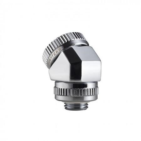 Phanteks 16mm Hard Tube Rotary Fitting 45 G1/4 - Chrome