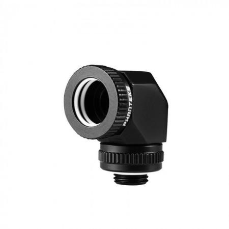 Phanteks 16mm Hard Tube Rotary Fitting 90 G1/4 - Black