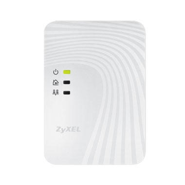 Zyxel 500Mbps Mini Powerline Ethernet Adapter Twin Pack - Wallmount