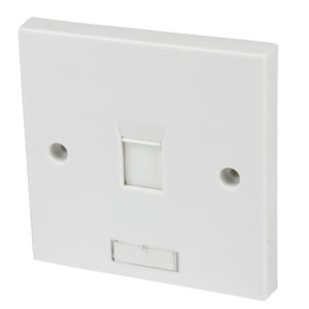 StarTech.com Single Gang RJ45 Faceplate - Universal UK Keystone Wall Plate -  White