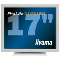 "Iiyama T1731SR 17"" LCD Touchscreen Monitor 1280x1024 Resolution 200cd/m2 Brightness 900_1 Contrast Ratio 5ms Response Time VGA DVI USB RS232 Interface - White"