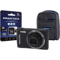 PRAKTICA Luxmedia Z212 Compact Digital Camera + 8GB SD Card + Camera Case