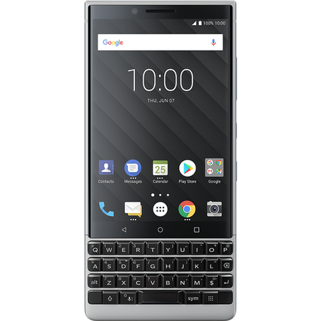 "PRD-63824-001 BlackBerry® KEY2 Silver 4.5"" 64GB 4G Unlocked & SIM Free"