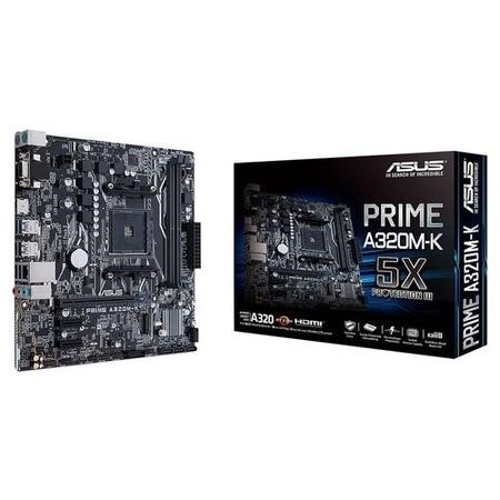 ASUS PRIME AMD A320M-K DDR4 AM4 Micro-ATX Motherboard