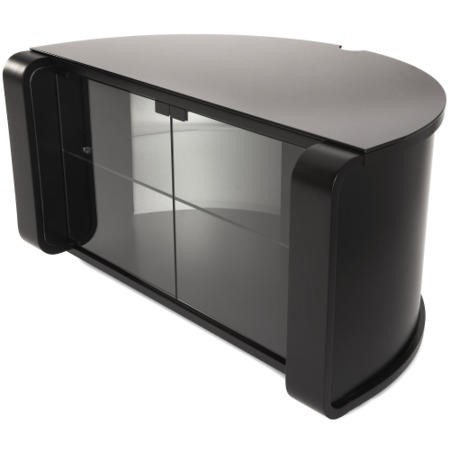 GRADE A2 - Minor Cosmetic Damage - Off The Wall PRO BLK Profile Black TV Cabinet - up to 52 Inch