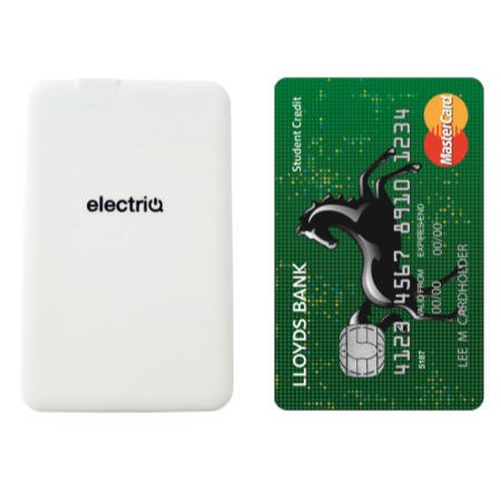 Slim Credit Card 1100mAh Portable Power Bank For iPhone & Android Phones Micro USB