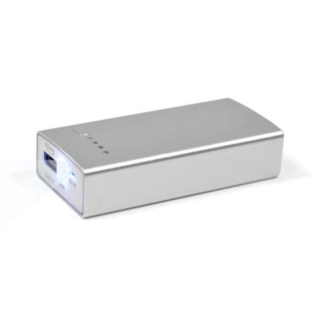 Dual USB 5200mAh Portable Power Bank In Silver For iphone & Android Phones & Dash Cams