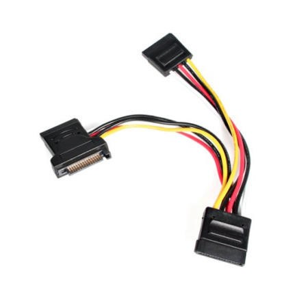StarTech.com 4in SATA Power Y Splitter Adapter Cable