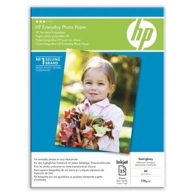 HP Everyday Photo Paper - semi-gloss photo paper - 25 sheets