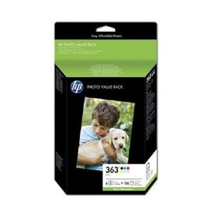HP 363 Series Photo Value Pack - print cartridge / paper kit