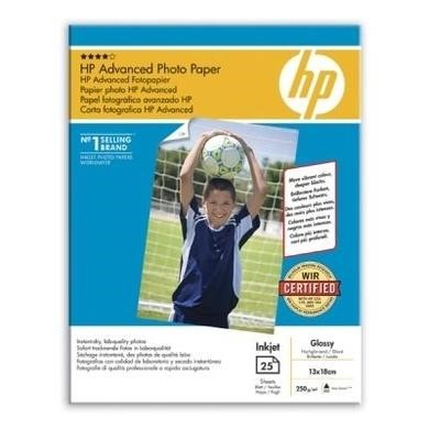 HP Advanced Glossy Photo Paper - glossy photo paper - 25 sheets