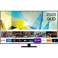 "Samsung QE49Q80TATXXU 49"" 4K Ultra HD HDR10+ Smart QLED TV with Bixby Alexa and Google Assistant"