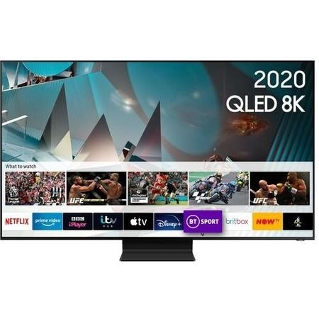 "Samsung QE82Q800TATXXU 82"" 8K Ultra Sharp HD HDR10+ Smart QLED TV with Bixby Alexa and Google Assistant"
