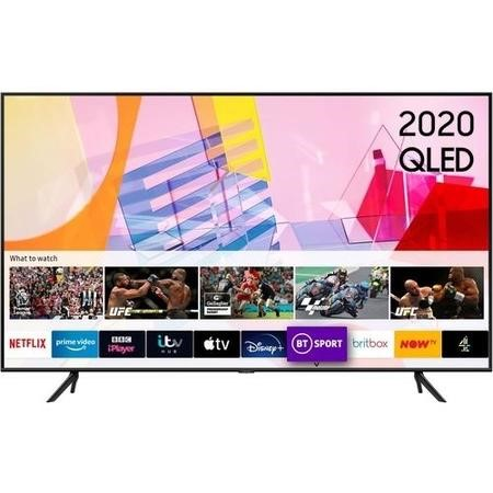 "Samsung 55"" 4K Ultra HD HDR10+ Smart QLED TV with Adaptive Sound"