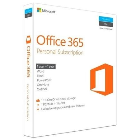 QQ2-00543 Microsoft Office 365 Personal - 1 user 12 month license