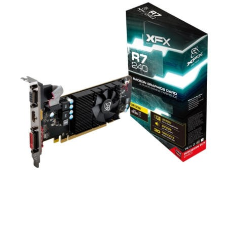 XFX AMD Radeon R7 240D 600Mhz 2GB 64bit DDR3 Graphics Card