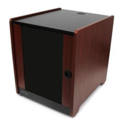 StarTech.com 12U Office Server Cabinet w/ Wood Finish and Casters