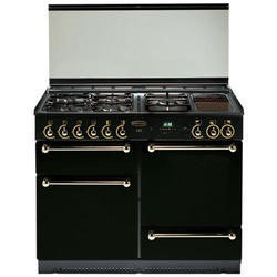 Rangemaster 73160 - 110cm Dual Fuel Range Cooker With Solid Doors - Black With Chrome Trim
